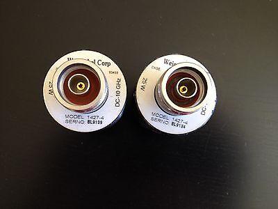 Lot Of 2 Weinschel 1427-4 Medium Power Coaxial 50 Ohm 25 Watt Dc 10