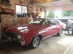 71 chevelle #'s match, low mile, 4 speed, posi