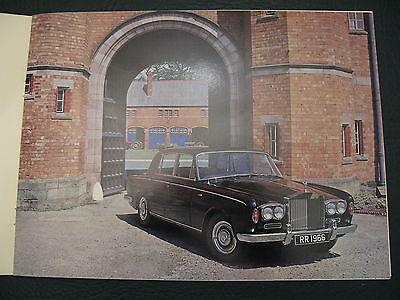 1965 Rolls Royce bentley showroom brochure art manual  T  silver shadow