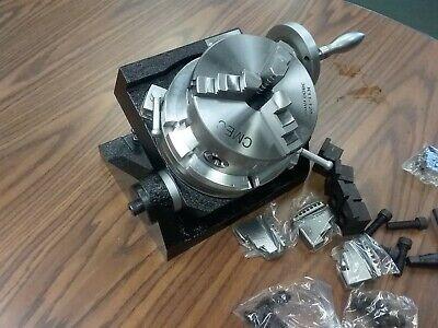 6 Tilting Rotary Table Heavy Duty Centering Adapter  5 Chuck Tsk-150-new