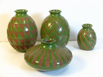 Santiago Gutierrez Nicaragua Pottery of Nica Ceramic Art Etched Vase Collection