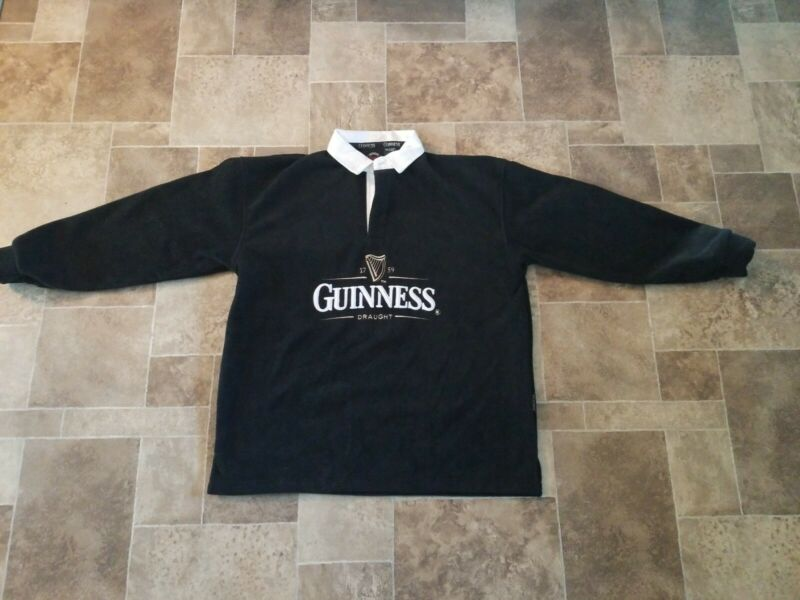 Guinness beer Black fleece pull over jacket authentic merchandise size XL new