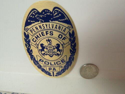 Vtg. Pennsylvania Chiefs of Police Association Insignia Sticker