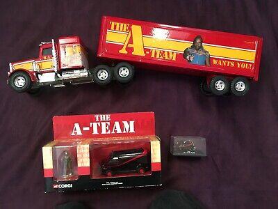Vintage Retro A-TEAM ERTL LORRY TRUCK, Corgi Van and Keyring Bundle.