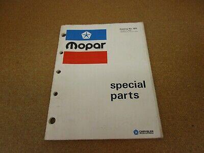 1973 Mopar Performance Special drag racing ORIGINAL parts book catalog manual