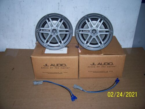"""JL Audio Marine Boat 6.5"""" Coaxial Speakers 6 1/2"""" Gray  Grille pair"""