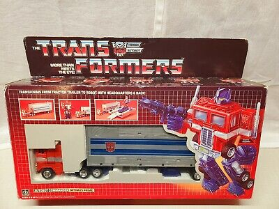 Vintage Transformers G1 Bloated Optimus Prime Complete in Box  Metal Plates