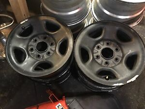 "Set Of GM 6 Bolt 16"" Rims"