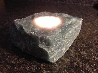 Natural Mineral Candle Holder Aventurine Wealth   Creativity
