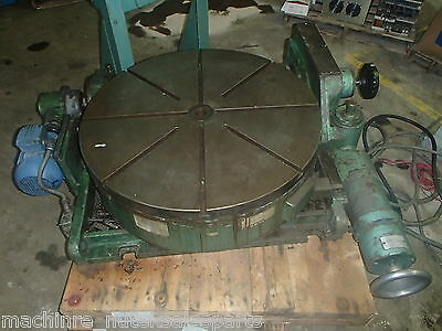 36 Pratt Whitney Precision Tilting Rotary Table Motorized Index Devlieg