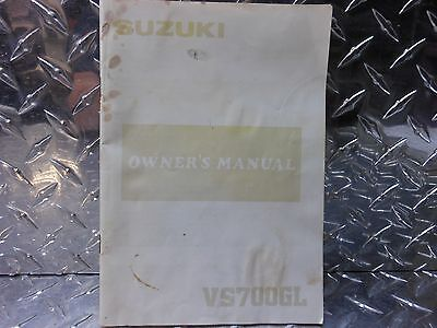 1986 Suzuki VS700GL VS 700 GL Factory Owner's Manual P/N 99011-38A20-03A