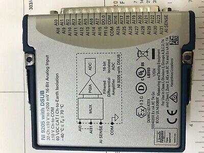 Ni 9205 32ch 10v Analog Input Module Cdaqcrio National Instruments
