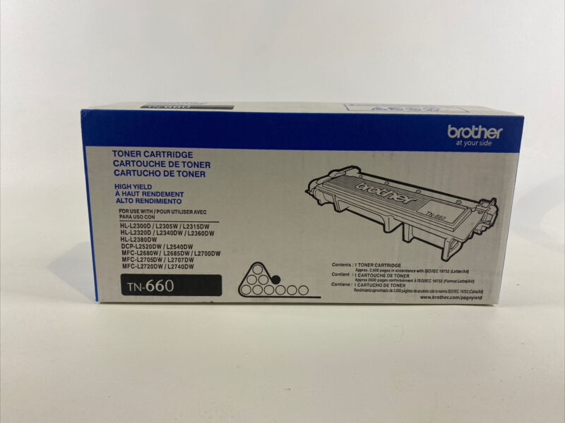 NEW Genuine OEM Brother TN660 Black High-Yield Toner NEW SEALED BOX HL MFC DCP