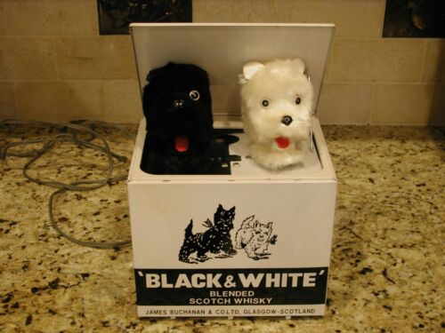 Vintage Black & White Scotch Scotties Motion Promotional Display - VGC -IT WORKS