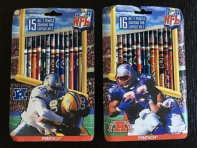 31 NFL Team Pencils By PENTECH Vintage Team Logo Conference 1998 No. 2 Pencil (Nfl Pencils)