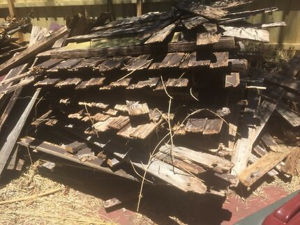 Free wood old fencing firewood