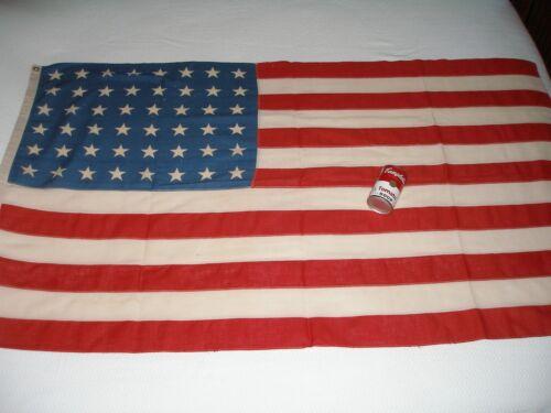 "Original Old 48-Star Flag, Antique Cotton, 57"" x 33"""