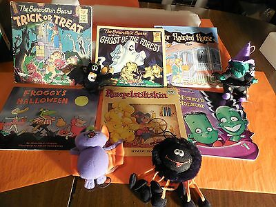 HALLOWEEN KIDS BOOKS BERENSTAIN BEARS AND OTHERS AND STUFF TOYS