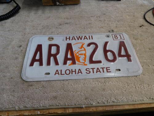 Hawaii Licence Plate, 1981