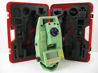 "LEICA TCRA1105 Plus 5"" ROBOTIC TOTAL STATION FOR SURVEYING, ONE MONTH WARRANTY"