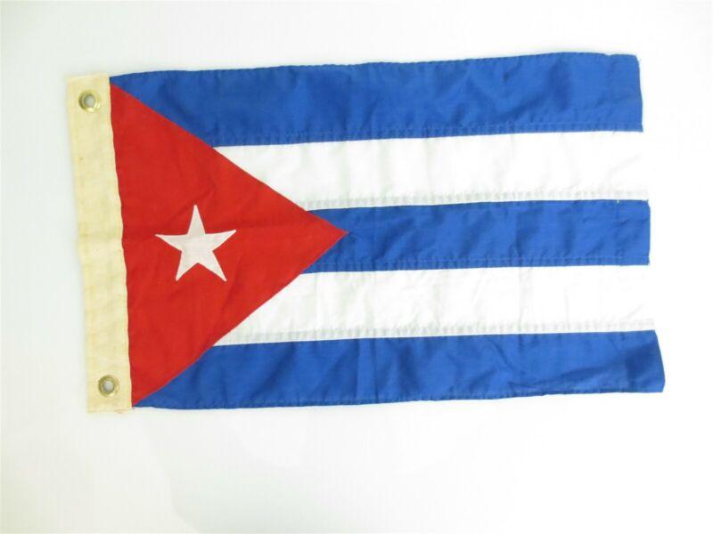 "Very Rare Vintage Cuba Pennant Flag Military Nautical Naval 19.5"" x 11.5"" [B8]"