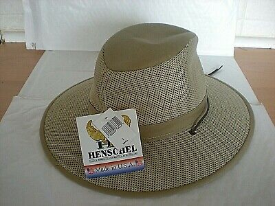 NEW With Tags Vented Mesh  Henschel Hat - Sized Small - Blocks 99% Of Suns Rays