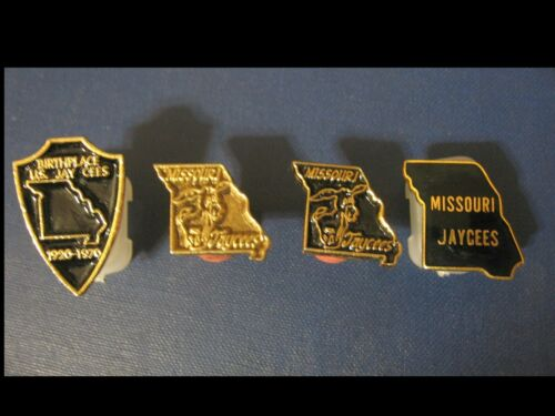 Missouri Jaycees Crest and State Outlines Trading Pins in Excellent Condition