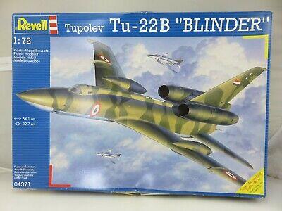 Revell TUPOLEV TU-22B BLINDER 1/72 Scale Model Kit 04371 UNBUILT
