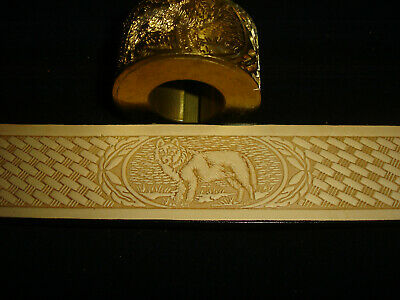 Leather Embossing Machine Roll BASKETWEAVE and WOLF pattern Solid Brass