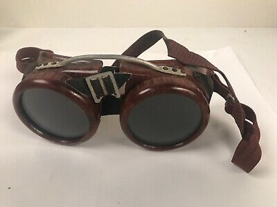 Vtg Dockson Welding Goggles Safety Glasses Steampunk Cosplay Sun
