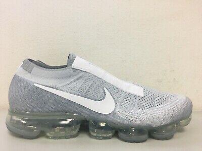 9e18578c2d8 Nike Air Vapormax Flyknit SE Laceless Pure Platinum White AQ0581-002 Size  10.5