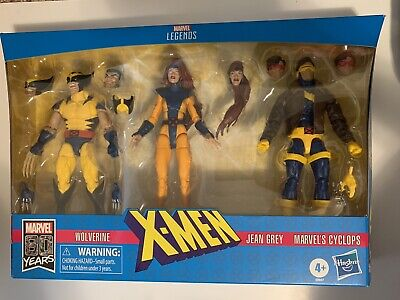 MARVEL LEGENDS X-MEN 3-PACK LOVE TRIANGLE JEAN GREY CYCLOPS WOLVERINE NEW SEALED