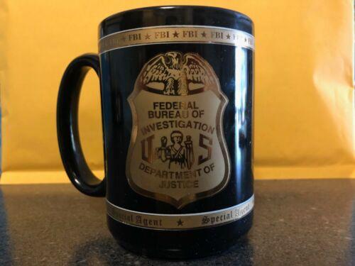 Authentic FBI Federal Bureau of Investigation DOJ Department of Justice Mug Cup