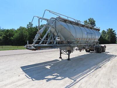 1980 Pneumatic Dry Bulk Steel Tank Semi Trailer Tanker 43 Tandem Axle 1250 Cuft