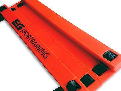 12-rung Speed Agility Ladder Soccer Football Training Durable Adjustable & Bag