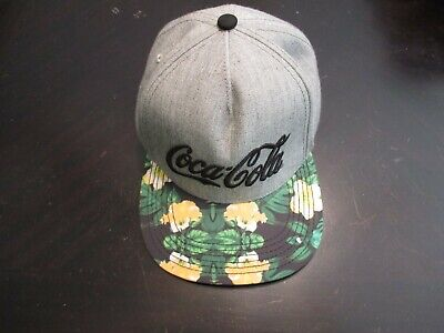 Tropical Hawaii Floral Flowers Coca Cola Coke snapback hat cap NEW