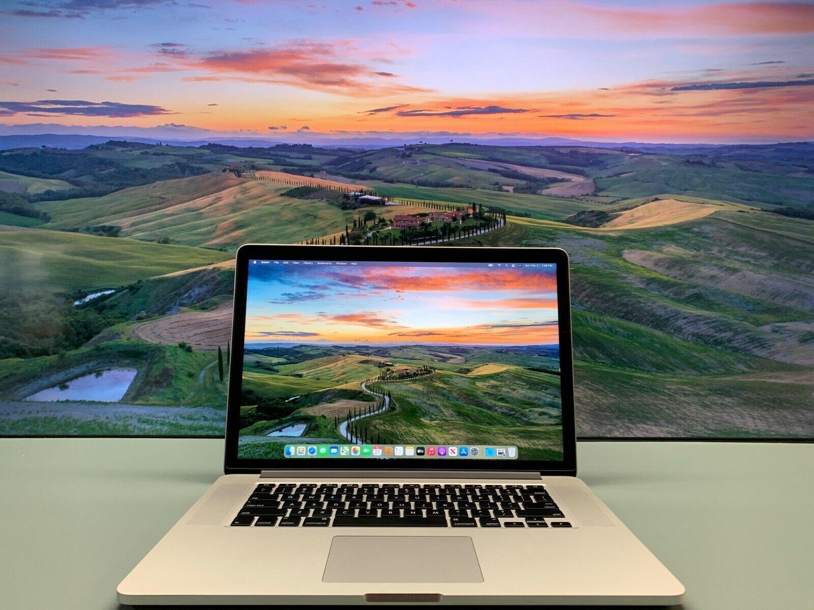 "15"" Apple MacBook Pro RETINA OS-2020 Quad Core i7 3.4Ghz 16G"