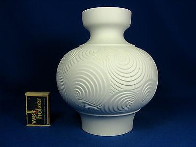 Cool 70´s Pop Art Design Alboth & Kaiser relief porcelain  Porzellan Vase  66
