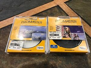 Promaster 72mm Circular polarizing and UV Multicoated Filters