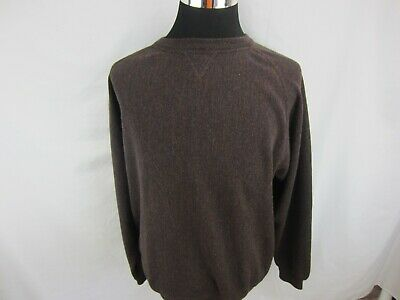 PERU UNLIMITED Mens Baby Alpaca/ Wool Crew Neck Sweater Sz XL Dark Brown EUC ()