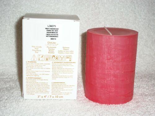 Partylite 3 x 4 Wild Strawberry GloLite Candle -- RETIRED