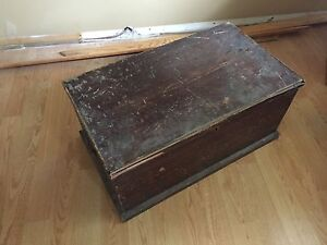 Antique trunk or blanket box