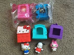 5 McDonads Sanrio Hello Kitty Toys - Houses and Characters
