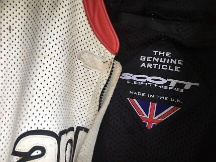 SCOTT race leather suit size 50 euro