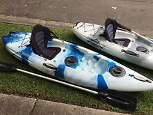 2 single sit-on-top kayaks with paddles and deluxe seats FOR SALE North Sydney North Sydney Area Preview