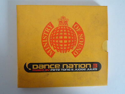 MINISTRY OF SOUND DANCE NATION 3 MIXED BY PETE TONG & JUDGE JULES CD'S