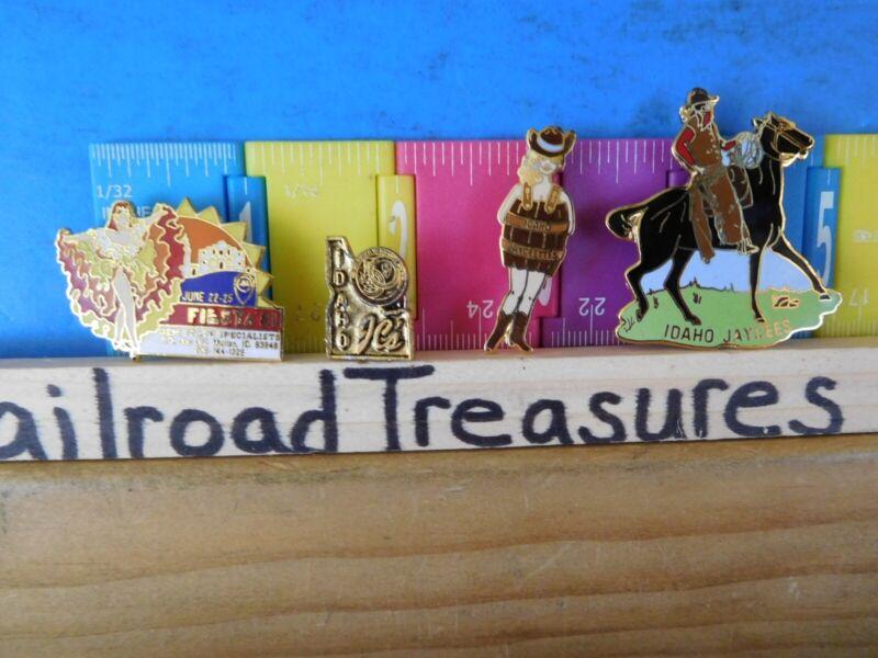 Jaycees Idaho (4) Fiesta Dancing girl  Cowboy Woman in barrel ins