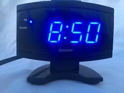 Sharp SPC-106 Digital Alarm Clock Displays Color Blue LED