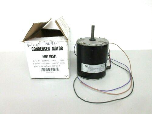 New MOT10511 .75HP 1130/900RPM 230V Condensor Motor