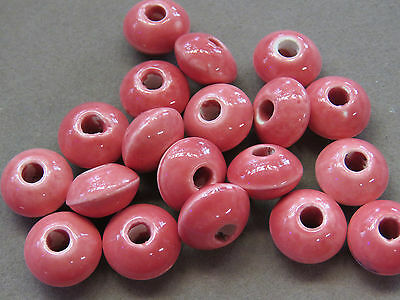 10  Coral 15x10mm Porcelain Beads(K159A85)